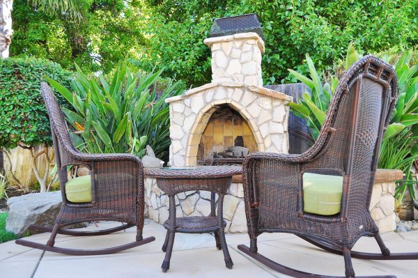 29869024 - fireplace in backyard